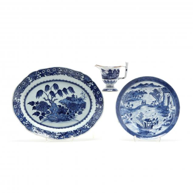 three-chinese-export-porcelains-blue-and-white-designs