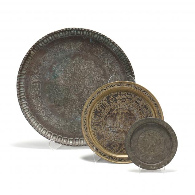 three-middle-eastern-copper-and-brass-trays