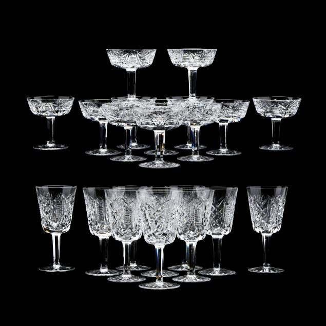 22-pieces-of-waterford-clare-stemware