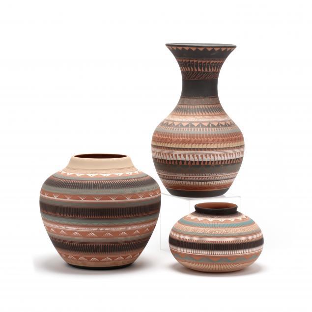 three-contemporary-native-american-pots-navajo