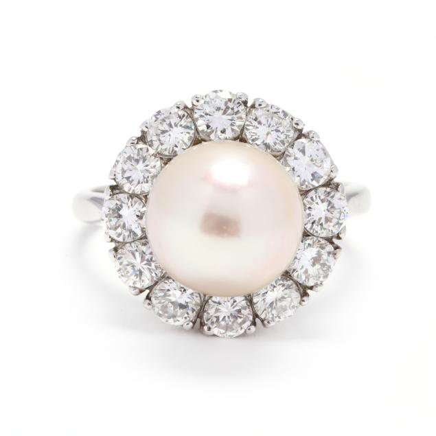 vintage-18kt-white-gold-pearl-and-diamond-ring