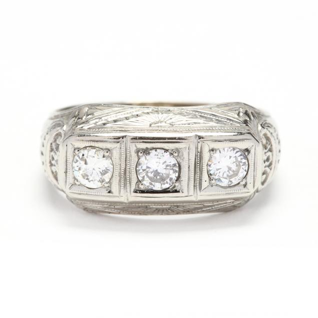 vintage-18kt-white-gold-and-diamond-ring