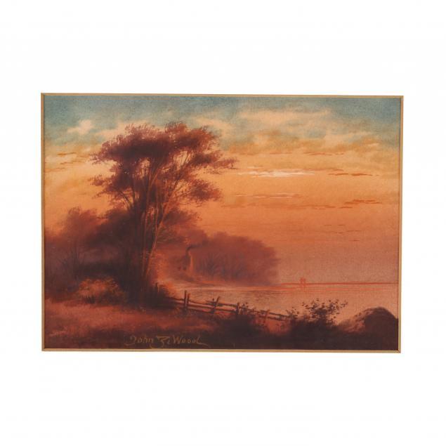 john-z-wood-ny-20th-century-i-sunset-on-the-lake-i