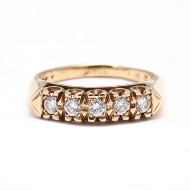 vintage-14kt-gold-and-diamond-band