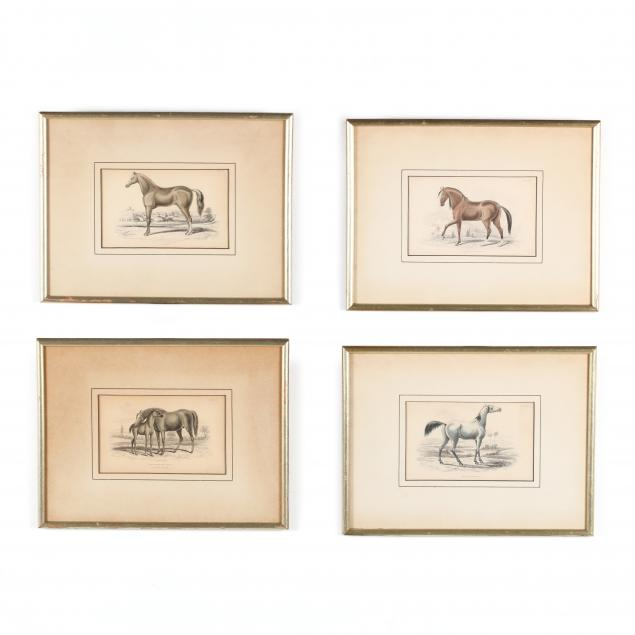 group-of-four-19th-century-horse-engravings
