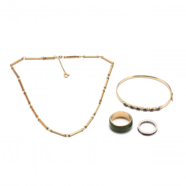 group-of-gold-jewelry
