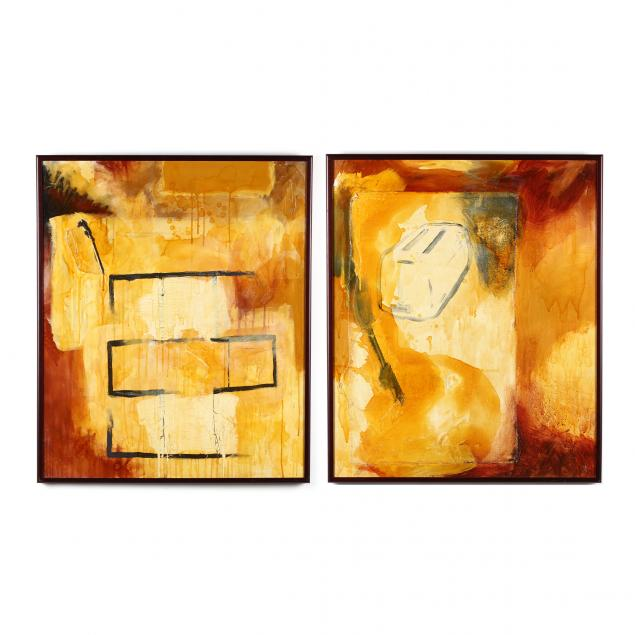 kelly-pollock-mn-b-1974-a-pair-of-abstract-earth-tone-paintings