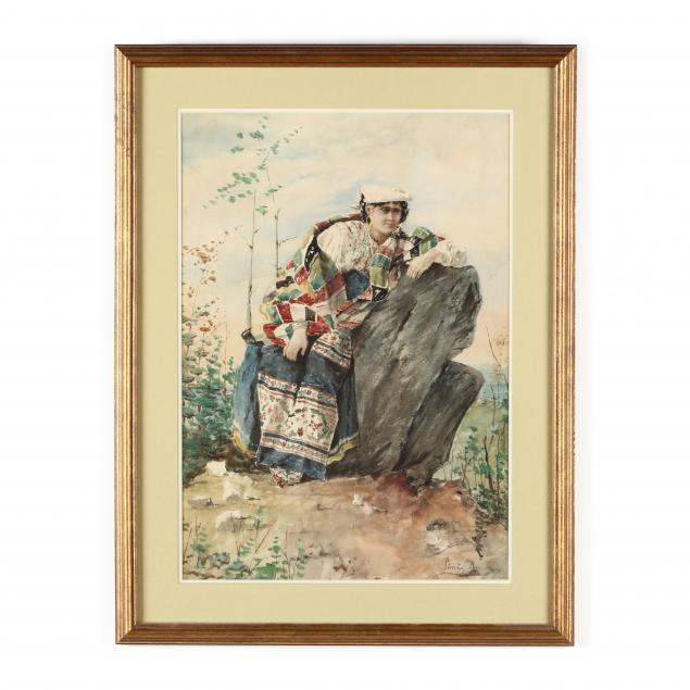 an-italian-school-watercolor-of-a-gypsy