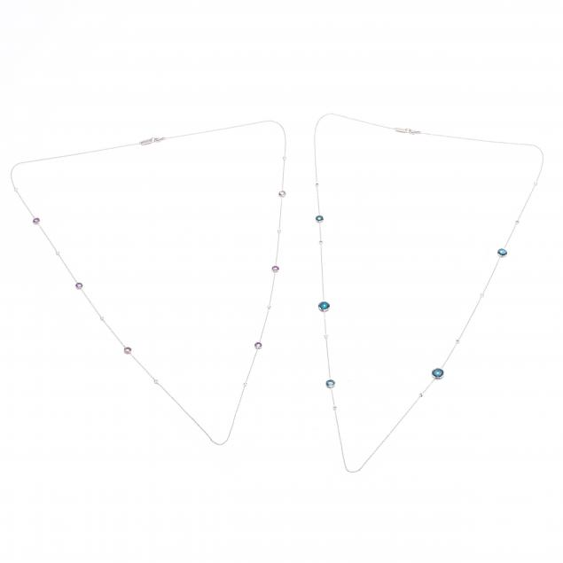 two-sterling-silver-and-gem-set-necklaces-ippolita