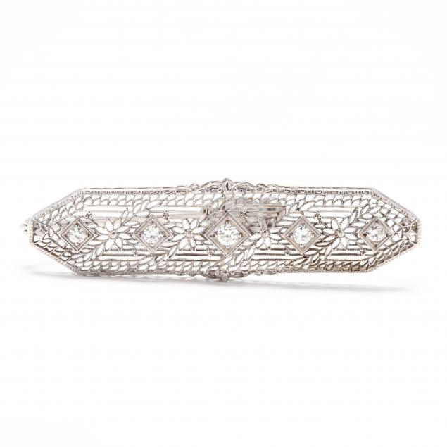 vintage-14kt-white-gold-and-diamond-brooch