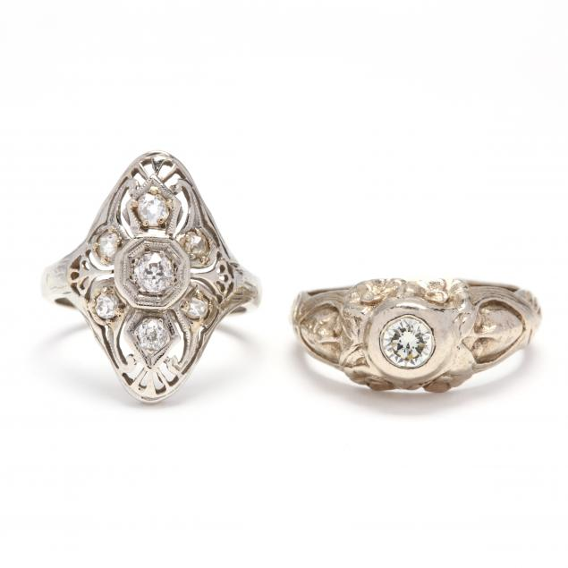 two-gold-and-diamond-rings