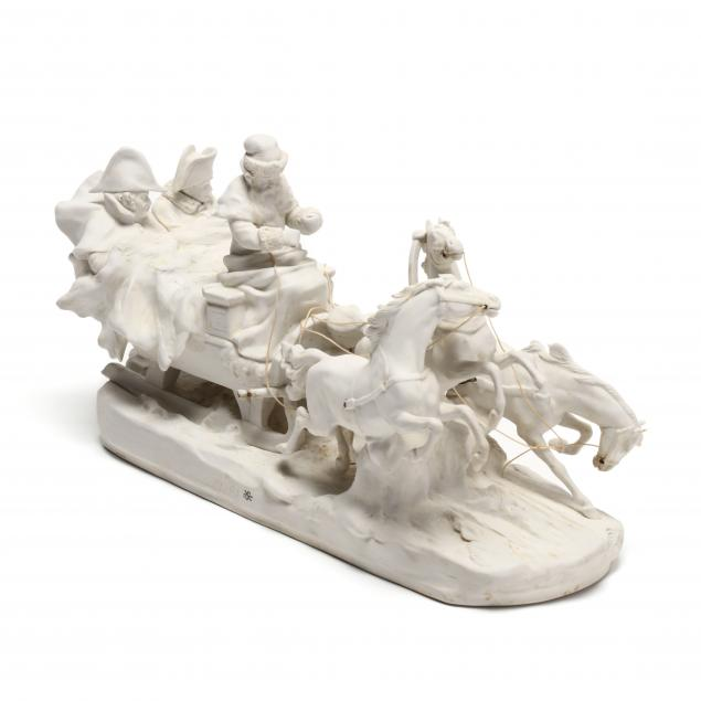 bisque-sculpture-of-napoleon-s-escape-from-russia