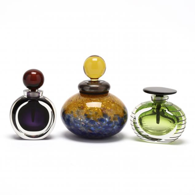 three-art-glass-perfume-bottles
