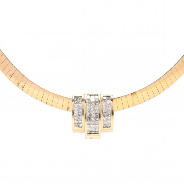 14kt-gold-and-diamond-omega-necklace