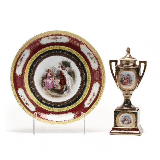 royal-vienna-mantel-urn-with-cover-and-charger-titania-s