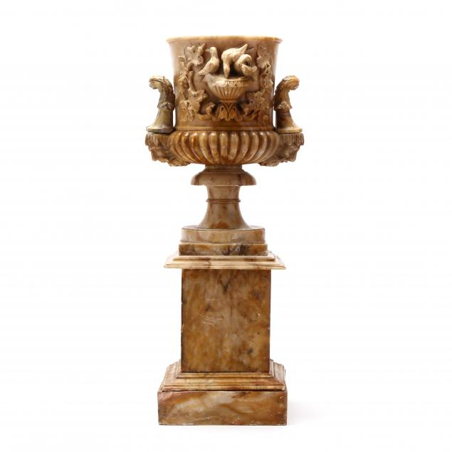 antique-carved-alabaster-urn