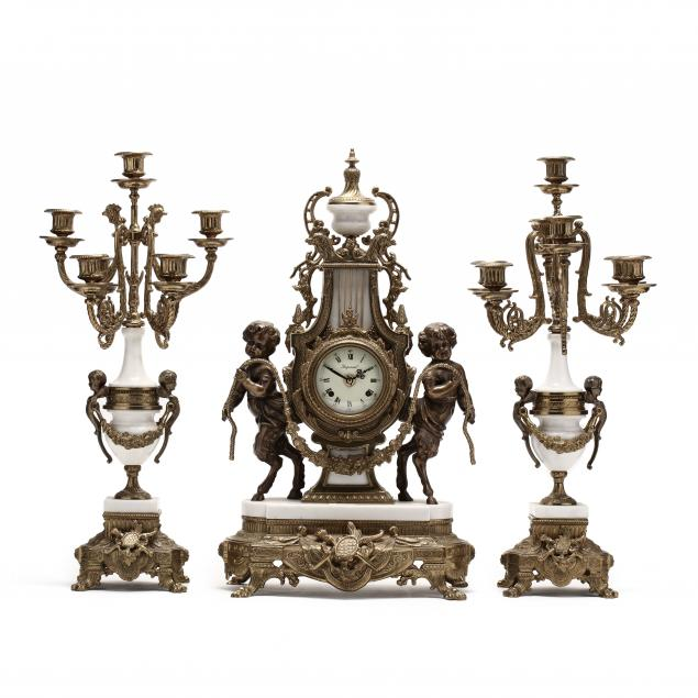 louis-xvi-style-ormolu-and-marble-three-piece-mantel-clock-set