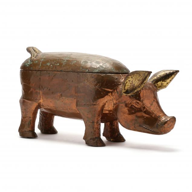 a-lidded-copper-pig-serving-vessel