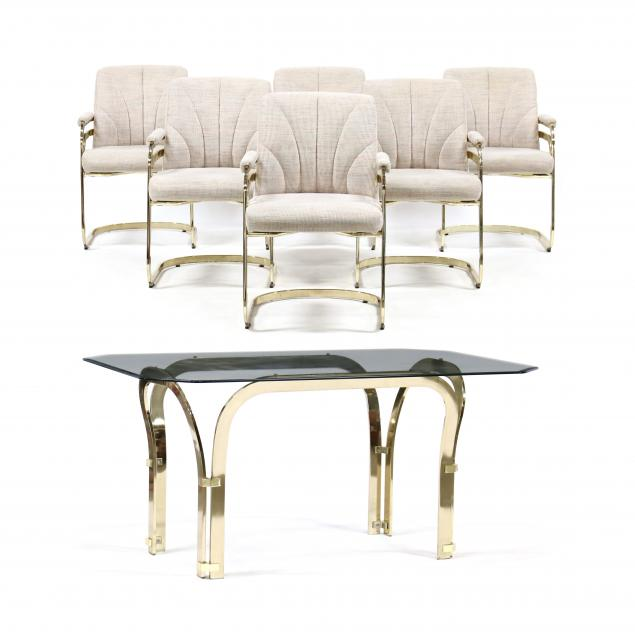 vintage-brass-chromcraft-table-and-six-chairs