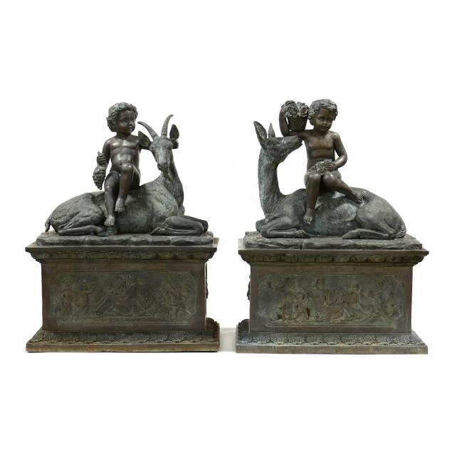 a-pair-of-life-size-classical-style-bronze-outdoor-sculptures