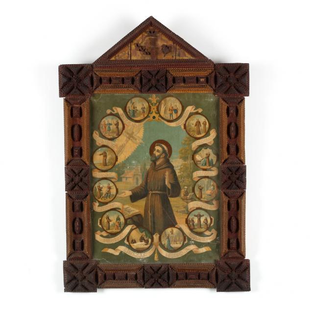 tramp-art-religious-framed-print