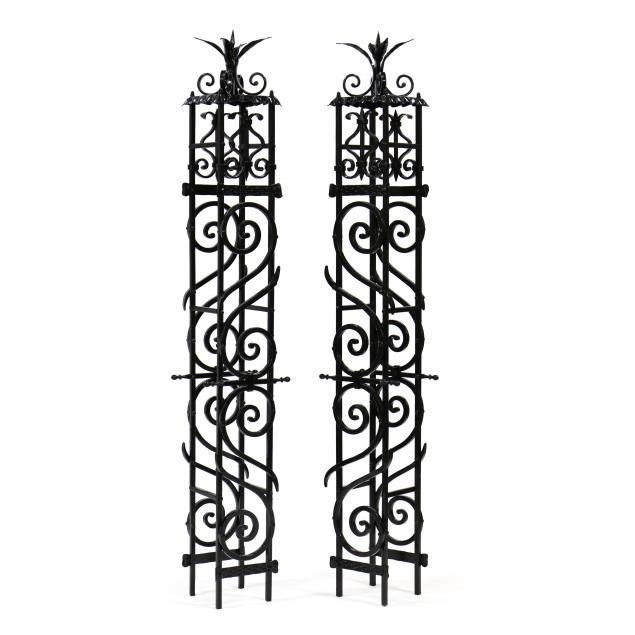 pair-of-painted-iron-architectural-elements