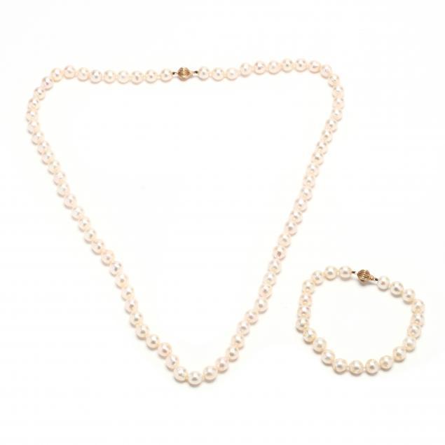 14kt-gold-pearl-necklace-and-bracelet