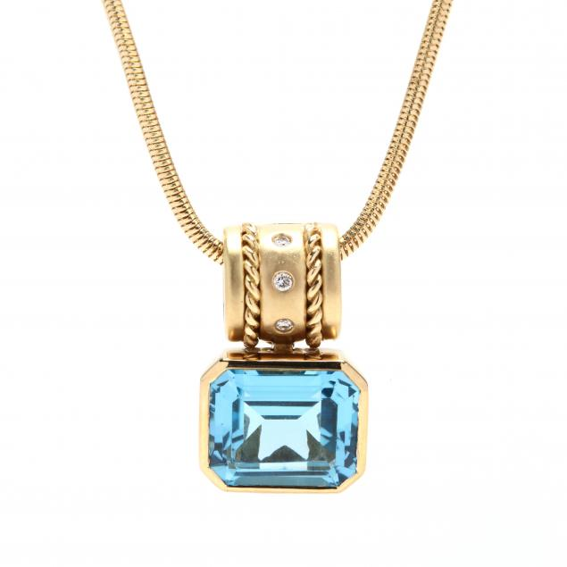 18kt-gold-blue-topaz-and-diamond-necklace