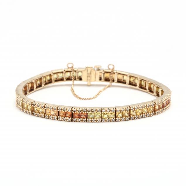 14kt-gold-and-multi-gemstone-bracelet