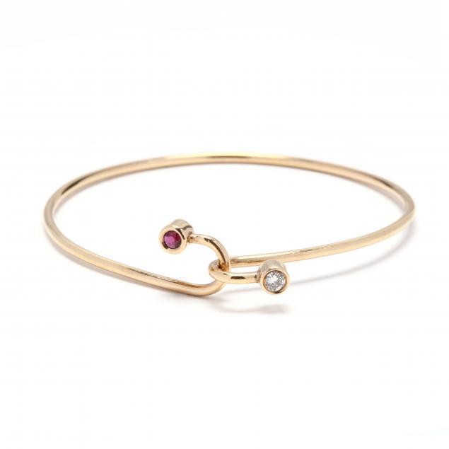 gold-synthetic-ruby-and-diamond-bangle-bracelet