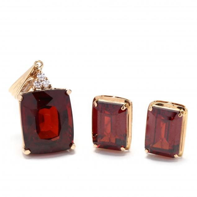 14kt-gold-garnet-and-diamond-jewelry-suite