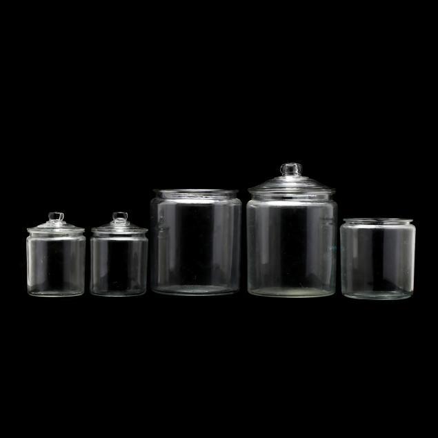 five-vintage-glass-storage-jars