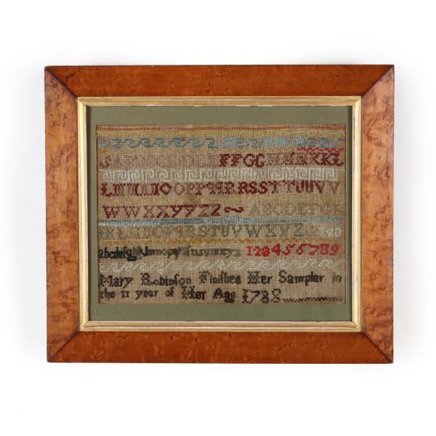 mary-robinson-s-band-sampler-dated-1788