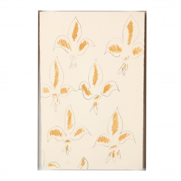 after-henri-matisse-french-1869-1954-i-fleur-de-lys-i-from-i-poemes-de-charles-d-orleans-i