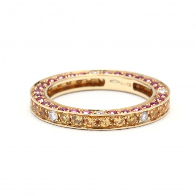 18kt-gold-multi-color-sapphire-and-diamond-band