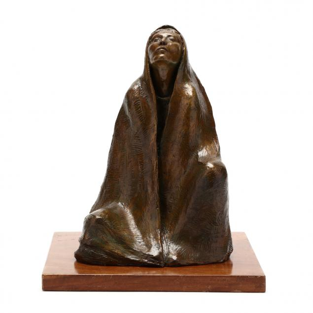bronze-sculpture-of-a-native-american-woman