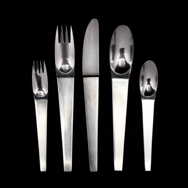 carl-aubock-austria-1900-1957-38-pieces-of-maestro-stainless-steel-flatware