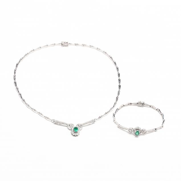 18kt-white-gold-emerald-and-diamond-suite