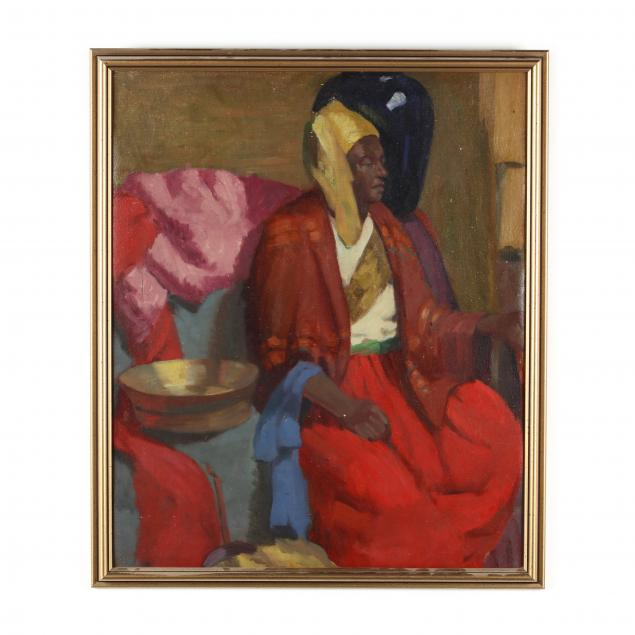 vintage-painting-of-a-north-african-woman