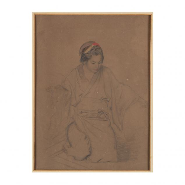 an-antique-drawing-of-a-japanese-woman