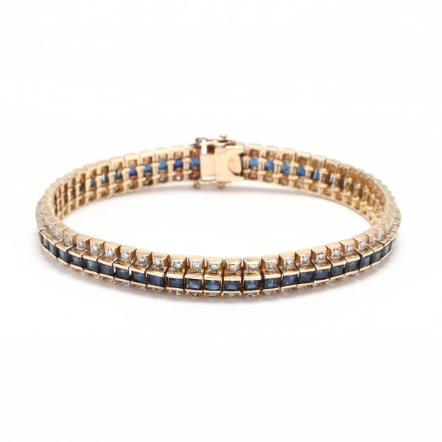 14kt-gold-sapphire-and-diamond-bracelet