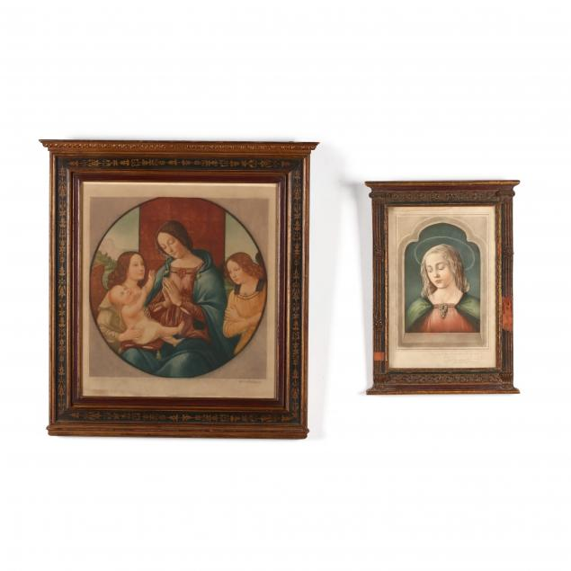 two-antique-devotional-prints-in-tabernacle-style-frames