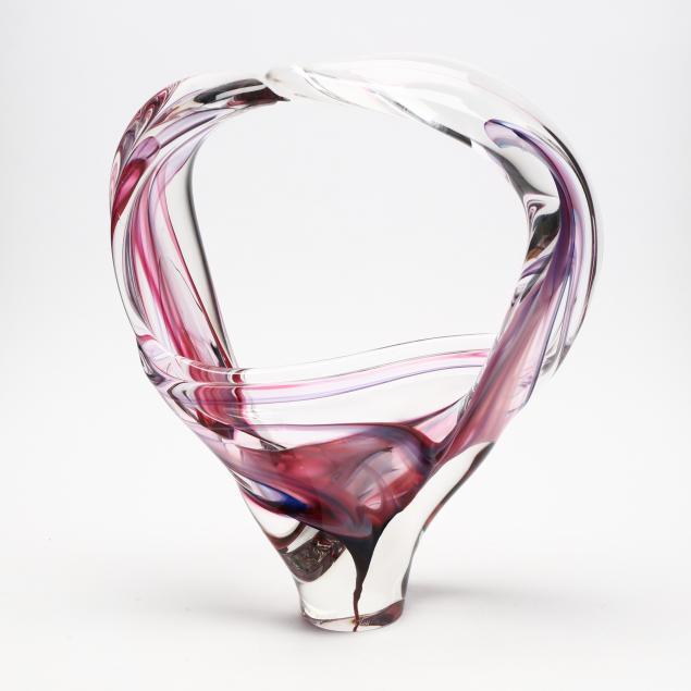 david-goldhagen-nc-large-loop-art-glass-sculpture