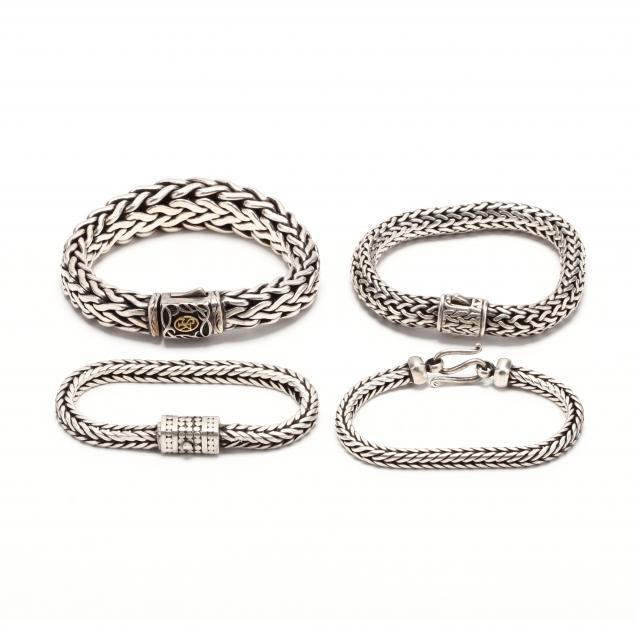 four-silver-bracelets