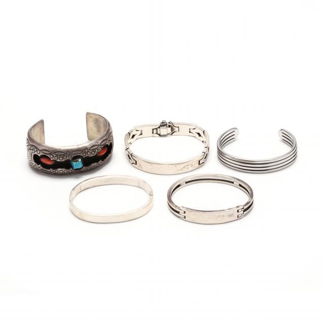 five-silver-bracelets