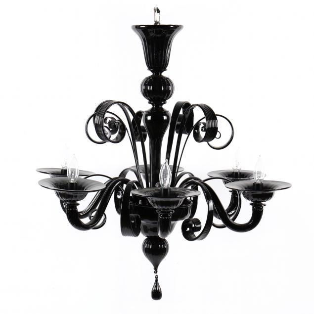 murano-modern-black-glass-chandelier