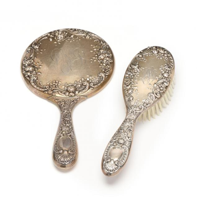 gorham-sterling-silver-hairbrush-and-hand-mirror
