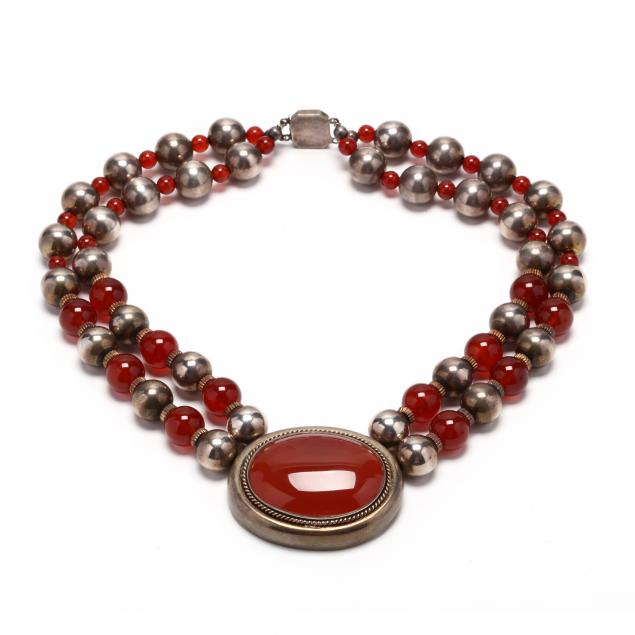 sterling-silver-and-carnelian-necklace