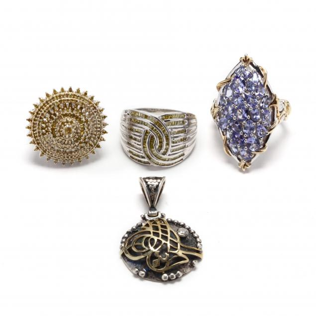 group-of-sterling-silver-jewelry-items