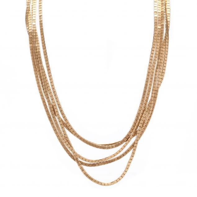 14kt-multi-strand-gold-necklace